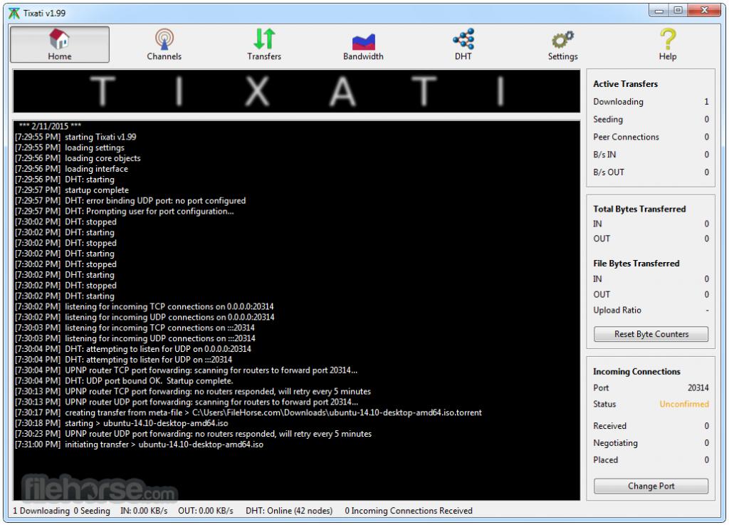 Tixati (64-bit) App for PC Windows 10 Last Version