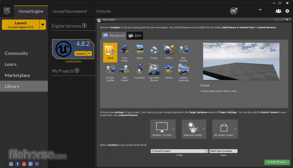Unreal Engine App for PC Windows 10 Last Version